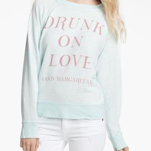 Wildfox Drunk On Love and Margaritas Blue S